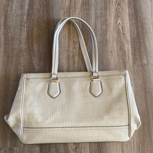 Cole Haan Tali Double Zip Work Tote in Taupe Croc